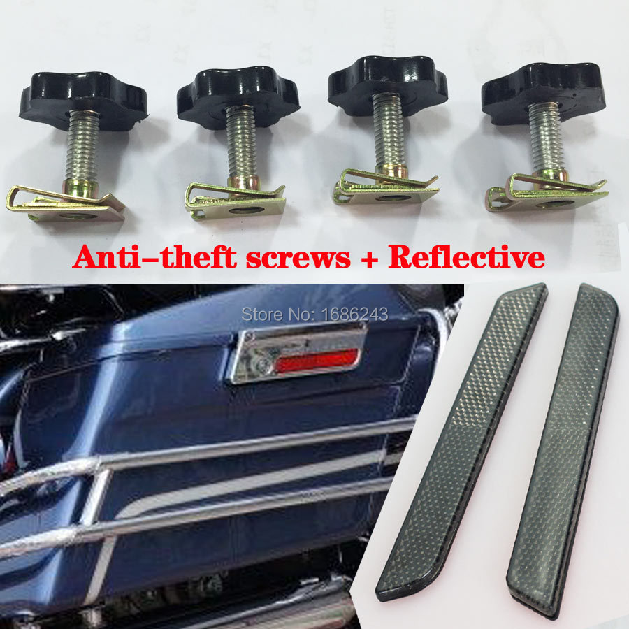 Smoke Reflectors Saddle Bag Latch Covers Mounting Security Theft