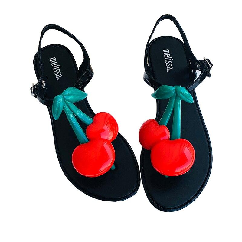 Chaussures Melissa sandales femmes cerise chaussures de gelée femme brésilienne chaussures de gelée décontracté de gelée décontractée Romam Melissa sandales Mujer