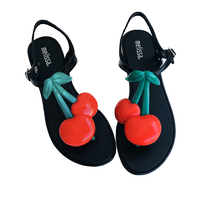 Melissa Shoes Cherry Women's Sandals Brazilian Female Jelly Shoes Summer Women Casual Jelly Shoes Romam Melissa Sandals Mujer