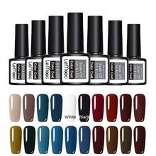 hot deal buy lemooc  8ml gel nail polish soak off uv gel 70 colors pure color nail gel varnish nail art manicure nail gel lacquer