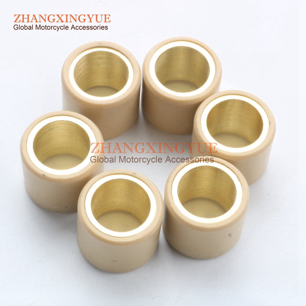 6PC High Quality Variator Weights Round 25x22mm 22g For PIAGGIO Beverly 500 02-04 X9 500 01-02 X9 Evolution 500 03-05