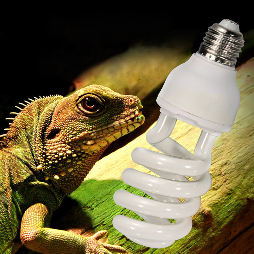 220v-240v Reptile Light Bulb 5.0 10.0 UVB 13W Reptile Light Bulb UV Lamp Vivarium Terrarium Snake Pet Heating DayLight Bulb