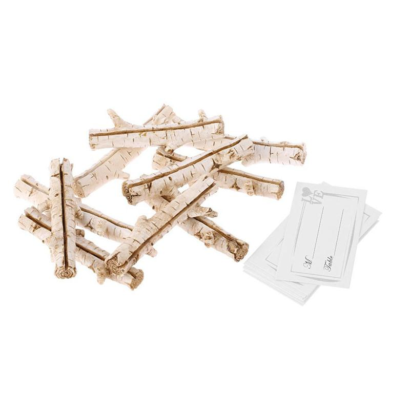 10 stücke Natürliche Holz Kartenhalter Sitz Ordner Rustikale Halter ...