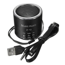 Top Deals Mini Speakers Speaker FM Amplifier Radio USB Micro-SD TF Pr PC MP3 iPod, Black