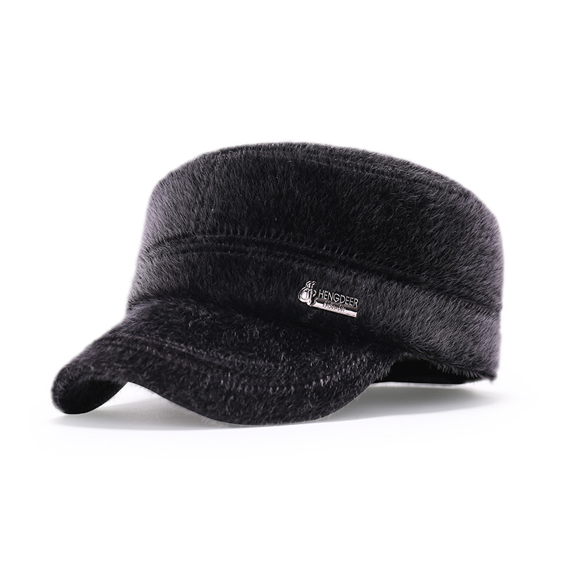 Fashion Winter Male Hat Fur Keep Warmth Bone Baseball Outdoor Thick Mink Man Visor Thermal
