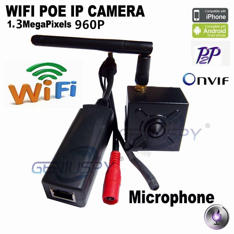 POE 960P Mini IP Camera Wifi Audio Microphone Security IP Network Camera Pin hole Support Phone APP Mini IP Wifi IP Cam Wireless