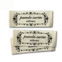 Free shipping clothing customized cotton printed label/garment collar tags 2000pcs /lot with cut&end fold