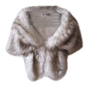 Image 5 - Abrigos de boda de piel sintética para mujer, chaqueta cálida de invierno, chal, ropa de abrigo, capa para dama, uso diario