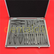 21pcs /SET  Stainless steel Ophthalmic Cataract Eye Micro Surgery Surgical Instruments