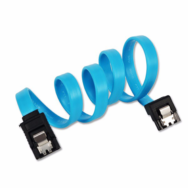 Super Speed 40CM Straight 90 Right Angle SATA 3.0 Cable 6GB/s SATA III Cable Flat Data Cord For HDD SSD
