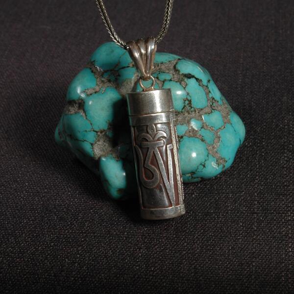 Collier pendentif tibétain OM Gau en argent 925 népalais fait à la main en argent Sterling bouddhiste Vajra boîte de prière pendentif collier amulette chanceux