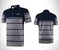 Abbigliamento da golf di Fascia Alta di Sport degli uomini Manica Corta T-Shirt Banda Elasticità Traspirante Fitness Corsa Esterna di Sport con la Palla T-Shirt