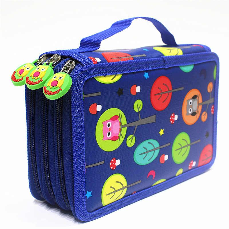 Милый пенал, школьный пенал, Kawaii мультяшная сумка для ручек, 32/52/72 отверстия, пенал, большая коробка, сумка для девочек и мальчиков, канцелярские принадлежности
