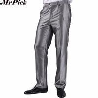 Pantaloni singoli Uomini di Affari Formale Slim Fit Wedding Party Suit Pants diamante Blu Vino Rosso Pantaloni Neri Taglia 44 Plus Size A37