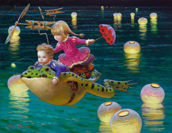 Moderní umění Victor Nizovtsev Plátno Obrazy olejomalba Dětský pokoj Vánoční ozdoby Nástěnný obrázek nejlepší vánoční dárek vk01