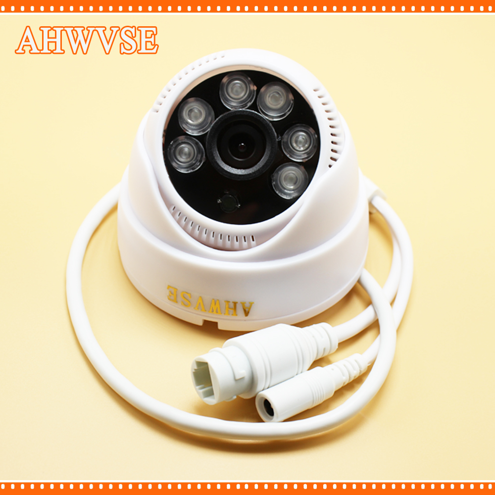 AHWVSE POE IP Security Dome Camera ONVIF 1MP HD 720P POE Security Camera Indoor IR-cut Night Vision 4 in 1 ir high speed dome camera ahd tvi cvi cvbs 1080p output ir night vision 150m ptz dome camera with wiper