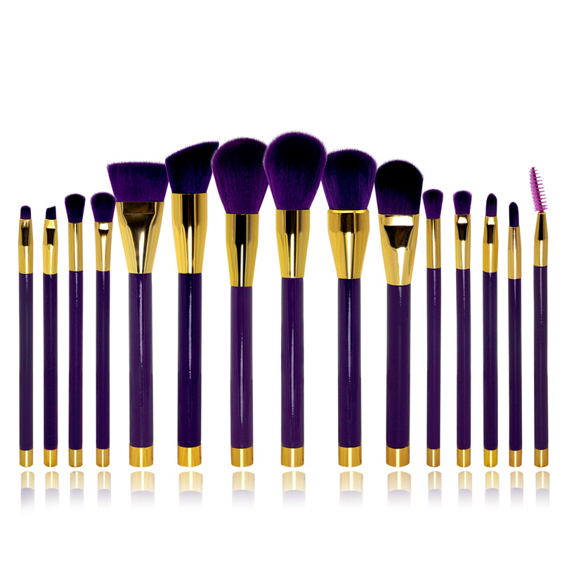 15 Pcs makeup brushes Eye Shadow Eyebrow Brush Brand Makeup Brushes Professional Cosmetic Kits Make Up Synthetic Hair Brush Set h01 professional makeup brushes squirrel hair sokouhou goat hair powder brush walnut wood handle cosmetic tools make up brush
