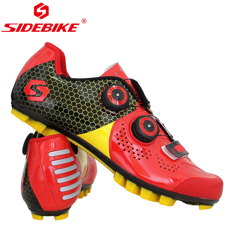 SIDEBIKE Ultralight Carbon Fiber Cycling Shoes Anti skid Breathable Mountain Bike MTB Bicycle Shoes Cycle Riding