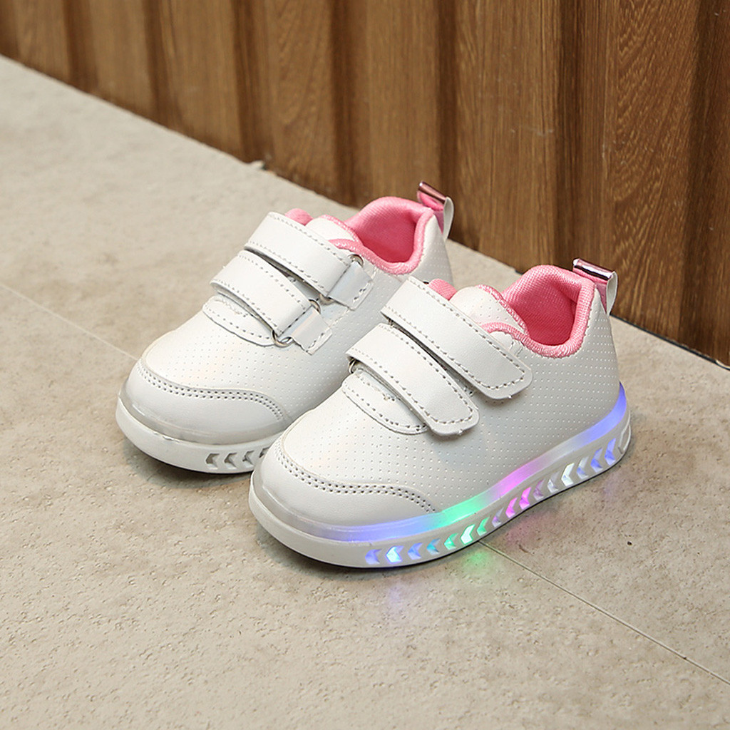6643475a02d03 Toddler Baby kid shoes children Girs Led Light Shoes Boys Soft Luminous  Outdoor Sport LED Sandals
