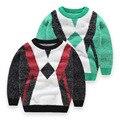 Nuevo Niño y Niña Suéter de Mohair de Alta Calidad Suéter de Algodón de Invierno Niños Niñas O-cuello Del Suéter Del Suéter Niños Ropa de Los Niños