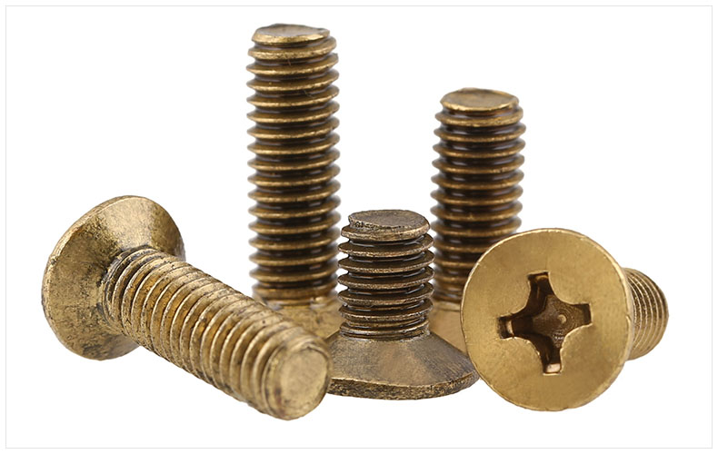 GB819 Flat head screws brass copper screws M2 M2.5 M3 M4 M5 M6 screws phillips KM screw special copper screws copper hexagon bolt copper outer hexagonal screws m16 80