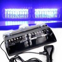 48W Windshield Led Strobe Light Viper Car Flash Signal Fireman Police Beacon Warning Light Blue Led
