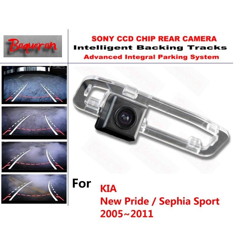 Для KIA Новый Гордость/Sephia Sport 2005 ~ 2011 CCD резервного автостоянка Камера интеллектуальные треков динамический РУКОВОДСТВО СЗАДИ вид Камера
