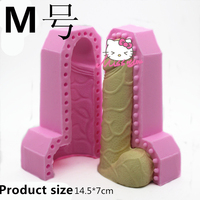 3D Beauty Penis Silicone Fondant Cake Mold Silicone Chocolate Mold Soap Soap Candle Mold Tools Free