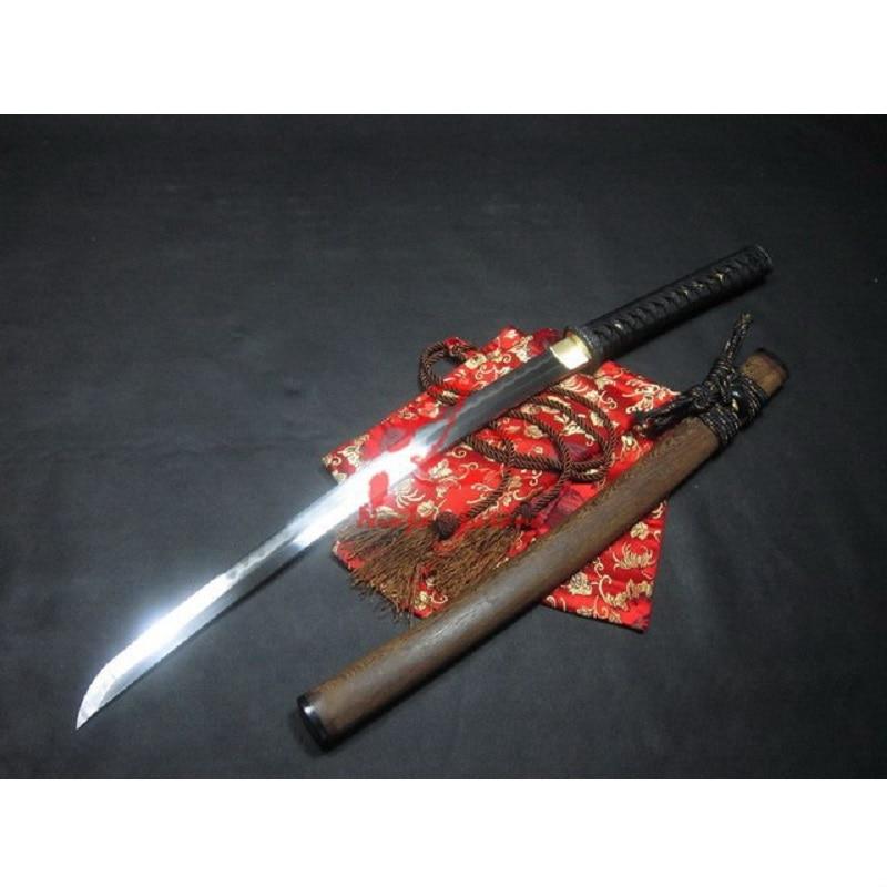 Battle ready clay tempered sanmai ใบมีด plum blossom wakizashi katana sharpened ดาบ-ใน ดาบ จาก บ้านและสวน บน   1