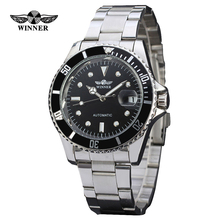 relogio masculino Winner Luxury Brand Stainless Steel Strap Analog Date Men's Automatic Watch Casual Watch Men Wristwatch