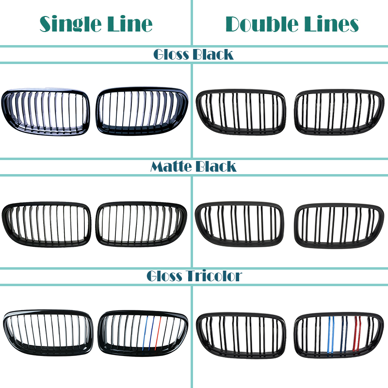 1set Car Kidney Front Racing Grills Grilles For BMW E90 E91 BMW 3 Series 2008 2009
