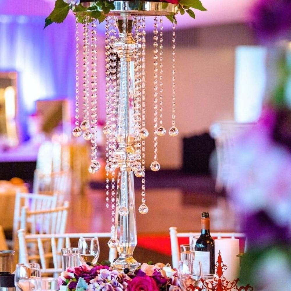 70cm Tall Crystal Table Centerpiece Wedding Chandelier acrylic ...