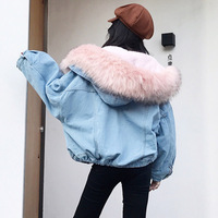 2019 New Warm Winter Bomber Women Spring Autumn Hooded Coat Jeans Denim Jackets Basic Ladies Top Windbreaker Female Large