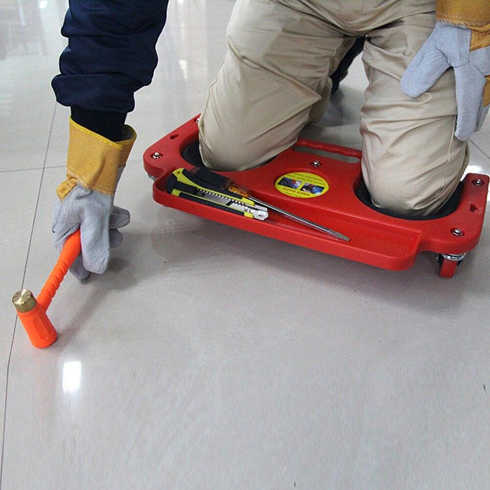 Rolling Knee Protection Pad with Wheels Built in Foam Padded Creeper Platform  laying tile or vinyl auto repair protecting knees kreg corner clamp