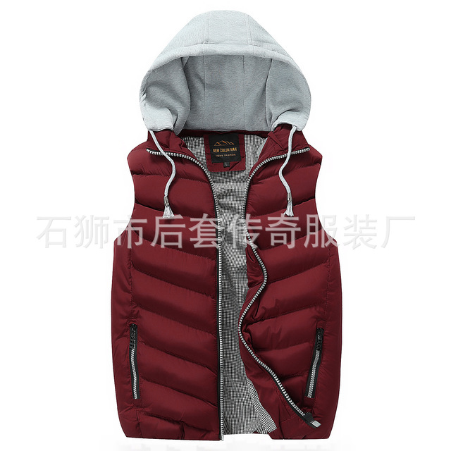 The new 2016 autumn/winter hooded vest male Cultivate one's morality leisure  thickening warm vest