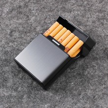 Fashion Aluminium alloy Cigarette case (hold 20 pcs)  Metal box holder Filter cigarette supplies