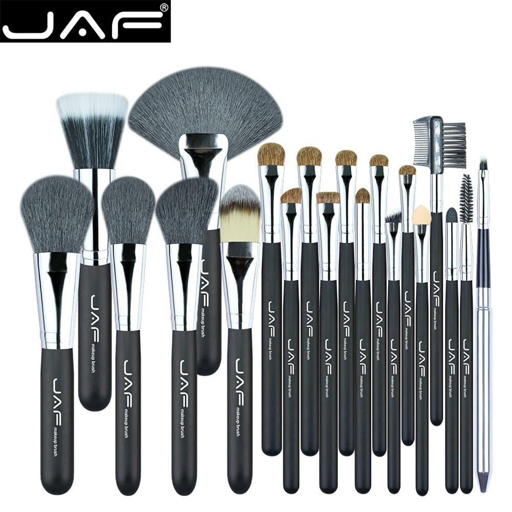 Best price JAF 20 Pcs Makeup Brush Set Professional Face Cosmetics Blending Brush Tool B# dropship 1016 best price mgehr1212 2 slot cutter external grooving tool holder turning tool no insert hot sale brand new
