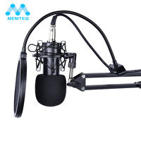 MEMTEQ Professional Wired Condenser Microphone NW700 Sound Podcast Studio Mic With Arm Stand Microphone For Computer Table Radio
