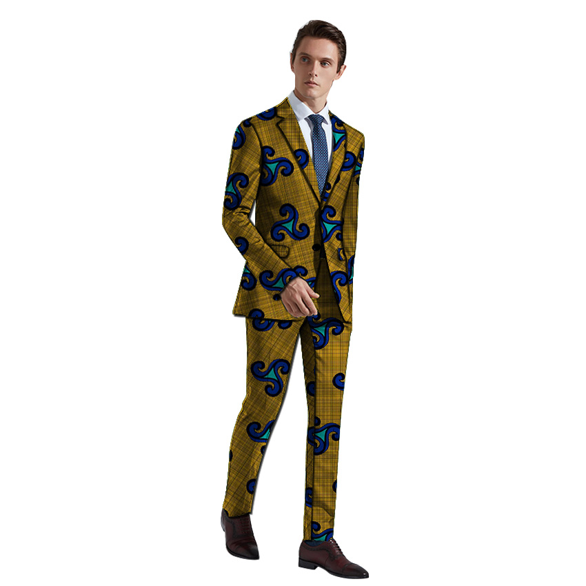 New Arrivals Men Suits Ankara Fashion Blazer And Trouser Casual Slim Fit 2 Pieces Mens Wedding Suit Jackets Male Plus Size