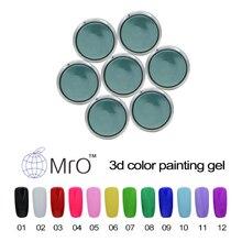 MRO 3D gel paint nail polish unhas de gel nail lacquers vernis a ongle color gel lucky profissional esmaltes permanentes de uv