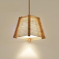 Solid Wooden Chinese bamboo chandelier southeast original wood staircase corridor balcony restaurant bar Individuality zb65