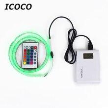 ICOCO 1/2 m Беспроводной беспроводной USB Мощность Управление светодиодный для разноцветной световой ленты энергосбережения для Спальня дома ТВ фон Декор
