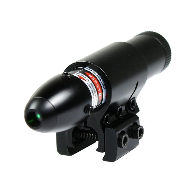 New Waterproof Bullet Red Dot Laser W/Barrel <font><b>11mm</b></font>/20mm Rail Mount Chasse Tactical Optics Green Dot Laser Sight Scopes