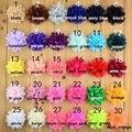 20 unids/lote 30 colores 7 cm Moda Gasa de Flores de Tela Plana de Nuevo Para Bebés Hechos A Mano Del Arte de DIY Del Pelo de la Ropa accesorios
