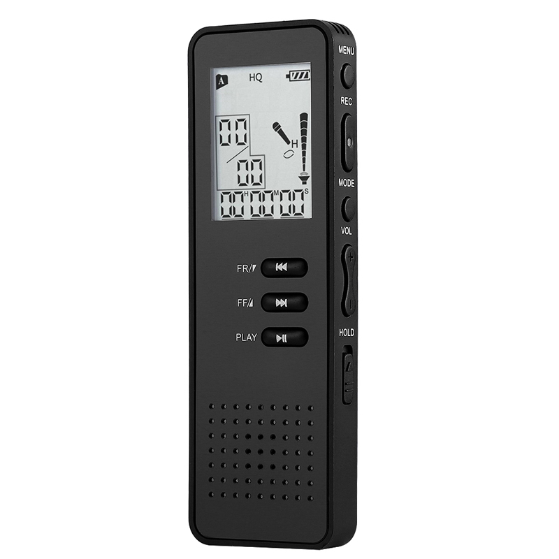 Digital Voice Recorder 8Gb Black Professional Portable Usb Audio Recorder With Mp3 Player Tf Card To
