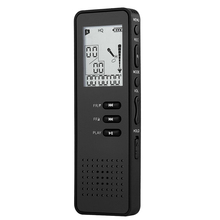 Digital Voice Recorder 8Gb Black Professional Portable Usb Audio Recorder With Mp3 Player Tf Card To Expand 32Gb yulass 16gb voice recorder usb business portable digital audio recorder with mp3 player support multi language tf card to 64gb