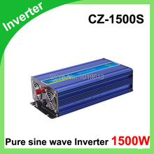 Pure sine wave inverter 1500W 110/220V 12/24VDC, CE certificate, PV Solar Inverter, Power inverter, Car Inverter Converter