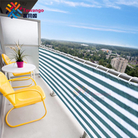 Tewango Custom 2.4 FT x 20FT Home Balcony Privacy Screen Gray Fence Deck Shade Sail Yard Cover Anti UV Sunblock Wind Protection