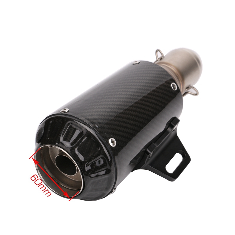 carbon fiber motorcycle GP-Force dirt bike exhaust pipe muffler silencieux moto escape aventura modificada motorcycle exhaust pipe muffler inlet 51mm 61mm sc gp escape exhaust mufflers carbon fiber exhaust pipe with sticker laser logo