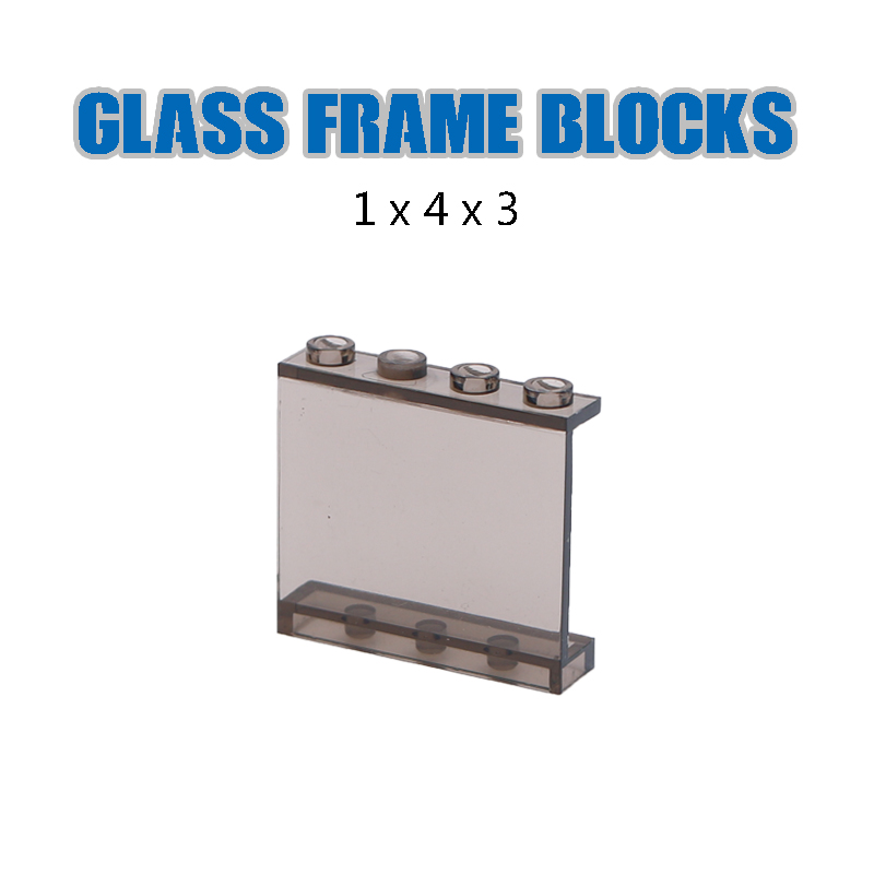 Image 4 - LegoINGlys City Building Blocks Window Frame Transparent Panel Wall House Parts Street View Friends Accessories MOC Bricks Toys-in Blocks from Toys & Hobbies